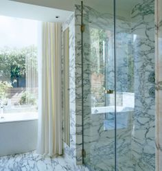 Marble London bathroom by Rients Ltd, black & white, strong marble pattern Bathroom Spa, Bathroom Ideas, White Marble Bathrooms, Classic Bathroom, Marble Pattern, Cool House Designs, Beautiful Interiors, My Dream Home, Home Goods