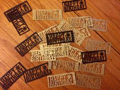 Happy birthday scrapbook decor