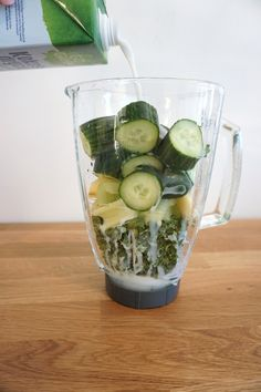 Juice Smoothie, Smoothie Recipes, Smoothies, Gluten Free Recipes, Healthy Recipes, Protein Shakes, Bon Appetit, Cucumber, Healthy Life