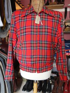 Vintage 1950s red blue green checked tartan by TheDustbowlVintage, £80.00