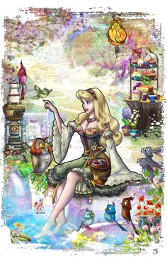 Hello Here is the companion piece for the Prince Philip which I submitted a while ago, let me know what you think. Briar Rose is my favorite Disney prin. I wonder, if I met you once upon a dream. Disney Kunst, Arte Disney, Disney Fan Art, Disney Magic, Disney Now, Disney Girls, Disney Movies, Disney Characters, Sleeping Beauty 1959