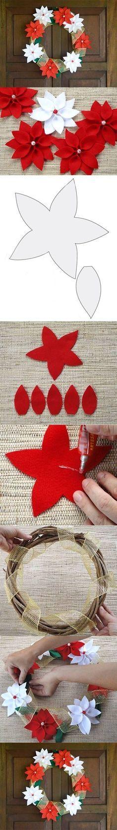 DIY Felt Christmas Wreath DIY Projects / UsefulDIY.com