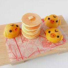Kiiroitori Nerikiri Wagashi Recipe & Bento キイロイトリのねりきり・パンケーキのキャラベン