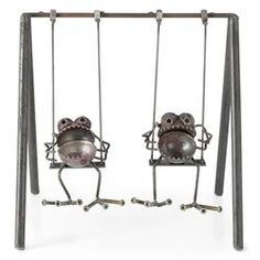 I love these gnomes... Gnome-Be-Gone Swing Set