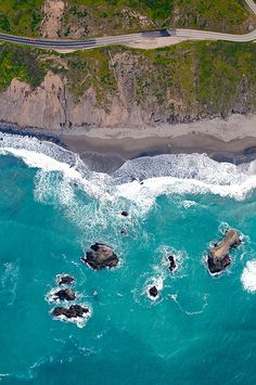Abstract Aerial Photography - Pacific Highway, CA