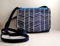 Flap Front Double Zip Pouch Shoulder Bag -- Sewing Tutorial
