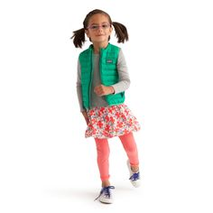 Girls Fall Mikko Modern Outfit #TeaCollection Love the down vest!
