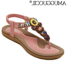 39.98$  Buy here - https://alitems.com/g/1e8d114494b01f4c715516525dc3e8/?i=5&ulp=https%3A%2F%2Fwww.aliexpress.com%2Fitem%2F2016-New-Arrival-Plus-Big-Size-35-42-Apricot-Pink-Blue-Black-Beading-Fashion-Sexy-Casual%2F32646694850.html - 2016 New Arrival Plus Big Size 35-42 Apricot Pink Blue Black Beading Fashion Sexy Casual Girls Summer Women Flats Sandals L756