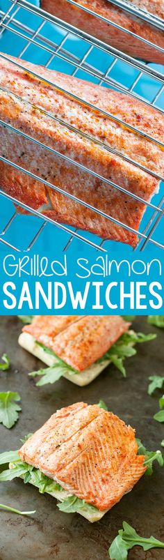 A recipe for my favorite Grilled Salmon Sandwiches with Pesto, Avocado, and Arugula and tips for perfectly grilled salmon, every time! These scrumptious salmon sandwiches make a tasty and healthy summer lunch! Fish Recipes, Seafood Recipes, New Recipes, Vegetarian Recipes, Favorite Recipes, Healthy Recipes, Healthy Options, Amazing Recipes, Healthy Eats