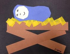 Jesus in the manger. Love, Laughter and Learning in Prep: Cheap & Cheerful Christmas Crafts!