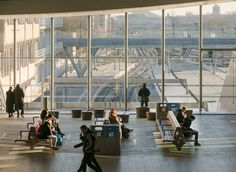 Image 9 of 17 from gallery of Utrecht Central Station / Benthem Crouwel Architects. Photograph by Jannes Linders Central Station, Bus Station, Utrecht, Transport Hub, Roof Covering, Roof Architecture, Transportation, Louvre, City