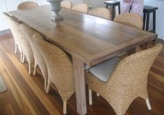 Beachwood Furniture - Limed recycled hardwood dining table 1800L x ...
