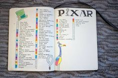 Even More Great Bullet Journal Templates That You Need This Year - With Love From Bex Bullet Journal Netflix, Bullet Journal Notebook, Bullet Journal Inspiration, Journal Pages, Journal Ideas, Journal Themes, Bullet Journals, Movie Bullet, Movie To Watch List