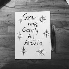 Ready for a good snow day so we can just snuggle & letter #amiright? #ssletters #handlettering #madeatcatylator #lettering #acreativedc #dtss #silverspring
