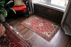 1960s Persian Iran Rug  / hand knotted / Ethnic woven by badbabyvintage on Etsy
