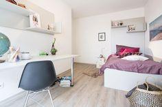 Schönes möbliertes Studentenzimmer in einem Studentenwohnheim. Wohngemeinschaft in Graz