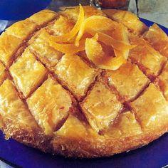 """""""Copenhagen"""" almond dessert with phyllo Snack Recipes, Cooking Recipes, Greek Dishes, Greek Recipes, Apple Pie, Almond, Chips, Dinner, Copenhagen"""