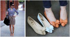 business casual women wearing flats