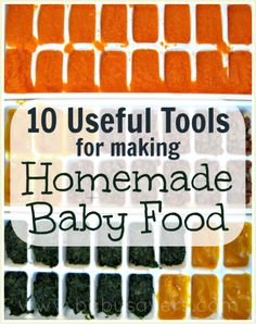 This is a great article to read if you have been thinking about making your own baby food! She has such great ideas.