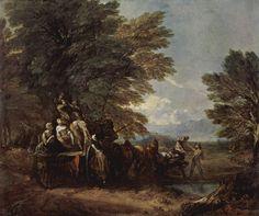 De oogstwagen ~ 1767 ~ Olieverf op doek ~ 120,3 x 144,5 cm. ~ University of Birmingham, Barber Institute of Fine Arts, Birmingham