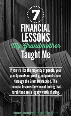 frugal living tips - my grandmother's financial lessons
