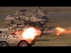 Ratel 90 and SANDF Armour in Battle Formation - YouTube