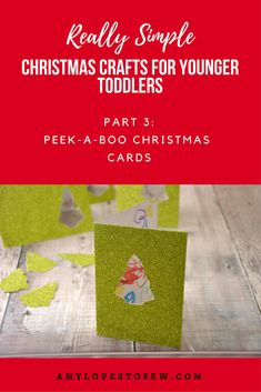 A lovely Christmas craft activity for you to do with young toddlers.  Make these cute Christmas tree cards with your little one's own brilliant artwork, to give to family and friends as a wonderful keepsake for years to come. #toddlercraft #christmascraft