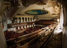 28 Abandoned Structures Still As Vibrant As The Day They Were Deserted~Tried Stone Baptist church in Detroit, MI.