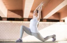 Best yoga poses for your thighs: Crescent Lunge - HarpersBAZAARUK Best At Home Workout, At Home Workouts, Top To Toe, Cool Yoga Poses, Personal Fitness, Best Yoga, Total Body, Lunges