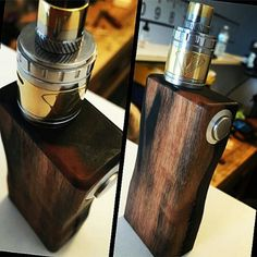 @heem85ss stays with the wood. Um box, vape jam atty, ONE/ONE 2 tone keepin it classy #Padgram