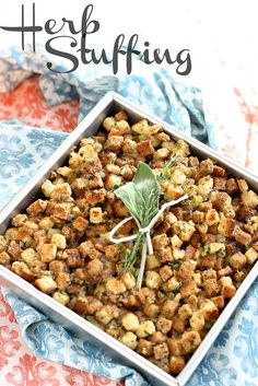 Easy and delicious Herb Stuffing for the Holidays! #stuffing
