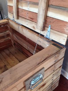 Storage Tack Trunk Made With Repurposed Pallet Boards, Hinged In Back With…