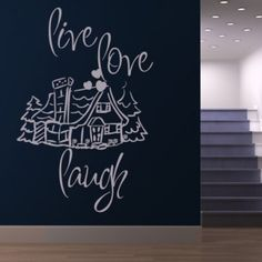 Live Love Laugh Quote Wall Stickers Wall Art Decal - Life & Inspirational - Wall Quotes