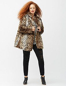 plus size animal print faux fur - Google Search