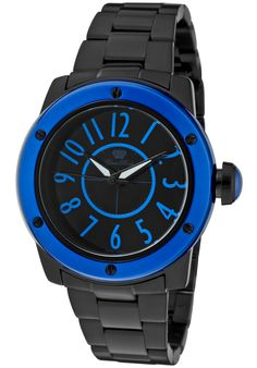 Glam Rock Women's Aqua Rock Black Ceramic and Dial Green Bezel Rock Watch, Black Bracelets, Black Jewelry, Ceramic Jewelry, Beautiful Watches, Glam Rock, Casio Watch, Bracelet Watch, Aqua