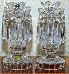 I soooo want these Waterford Crystal candle sticks.  Pretty pretty.