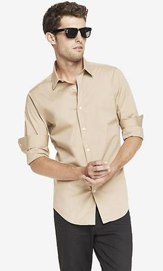 FITTED 1MX STRETCH COTTON SHIRT - Canyon ($35 x2) [Dress Shirt]