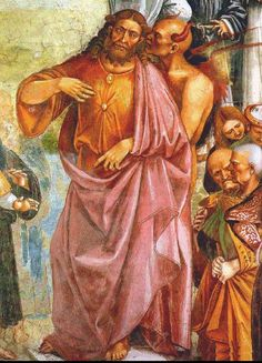 Antichrist and the Devil. Detail from the Deeds of the Antichrist fresco by Luca… Renaissance Kunst, Italian Renaissance, Angels And Demons, Carl Jung, Tempera, Religious Art, Black Art, Satan, Apocalypse