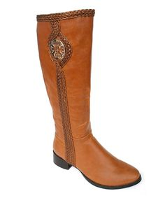 Love this Tan Braided Brooke Boot on #zulily! #zulilyfinds
