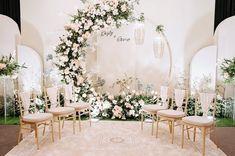 Wedding Stage Backdrop, Wedding Backdrop Design, Simple Wedding Decorations, Engagement Decorations, Ceremony Backdrop, Wedding Background, Flower Bouquet Wedding, Wedding Designs, Marie