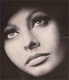 Sophia Loren photographed by Richard Avedon. S)