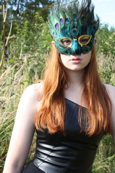 Peacock Feather Mask by Rockstarlette on Etsy
