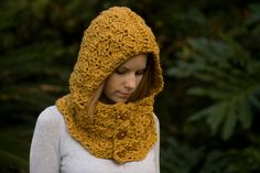 Wish I had this today! Crocheted cowl head warmer.