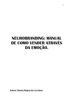 NEUROBRANDING  MANUAL DE COMO VENDER ATRAVÉS DA EMOÇÃO.