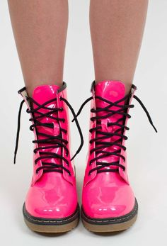 Stationed at Hot Pink Combat Boots Today | Post Apocalyptic ...