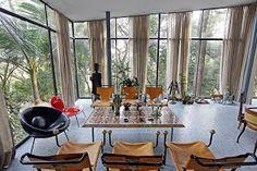 Casa de Vidro, de Lina Bo Bardi. Residência do casal Bardi. Morumbi, São Paulo, 1951