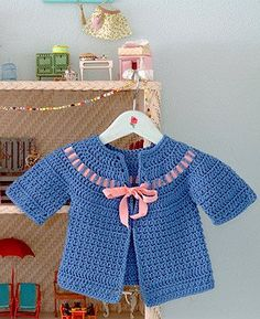 Cecily Baby Sweater Crochet Pattern