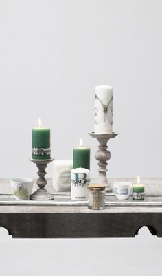 Lene Bjerre candles and candlesticks, spring 2014.