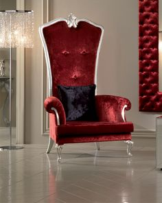 high back chair in red velvet old world high backed italian chair. beautiful ideas. Home Design Ideas