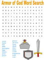 Armor of God word searches - includes one easier and one harder search